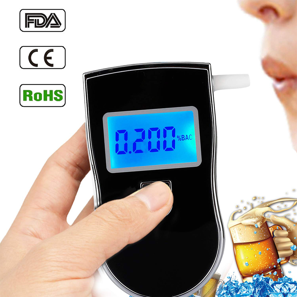portable breathalyzer device and case